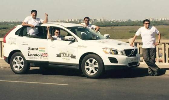 Food for All - A Car Trip from SURAT to LONDON by Road in 52 Days - April 2015 News