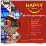 Happy Banquet in Rajkot – Life Events Hall at Kuvadva Road Rajkot