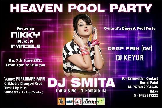 Heaven Pool Party with DJ Smita in Vadodara on 7th June 2015