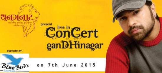 Himesh Reshammiya live in concert in Gandhinagar on 7th June 2015