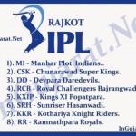 Rajkot IPL Team Names if IPL going to conduct in Rajkot City of Gujarat