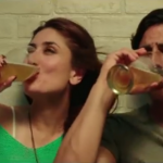 Indian Bollywood Actress Kareena Kapoor Drinking Alcohol Images in Gabbar Is Back Movie – Not Real Life Photos
