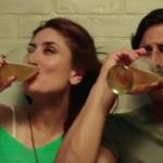 Indian Bollywood Actress Kareena Kapoor Drinking Alcohol Images in Gabbar Is Back Movie – Not Real Life Photos