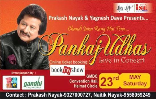 Pankaj Udhas Live in Concert at Ahmedabad on 23rd May 2015