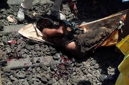 Photos of Railway Track Suicide Accident Gujarat
