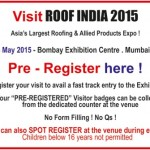 Roof India 2015 in Mumbai – Roofing and Allied Products EXPO on 22 to 24 May 2015