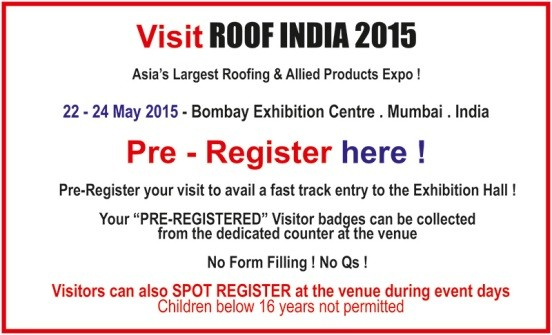 Roof India 2015 in Mumbai - Roofing and Allied Products EXPO on 22 to 24 May 2015.jpg