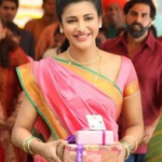 Shruti Hasan Saree Pics – Half Saree and Marathi Sari Blouse Images of Shruti Haasan in Gabbar Is Back