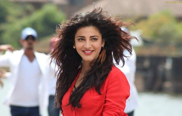 Shruti Haasan in Red Shirt