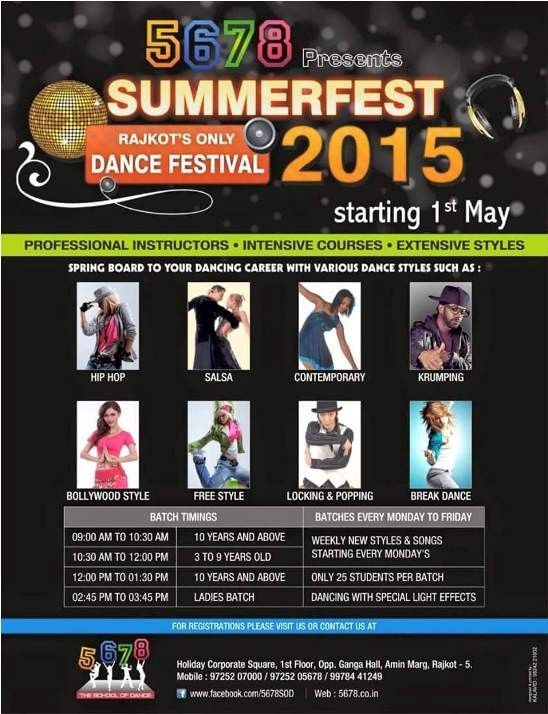 Summer fest Dance Festival 2015 in Rajkot Presents by 5678
