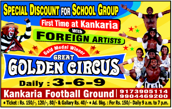 The Golden Great Circus Show in Ahmedabad at Kankaria Football Ground on May 2015