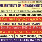 The Time Institute of Management & Technology in Vadodara Bhavnagar