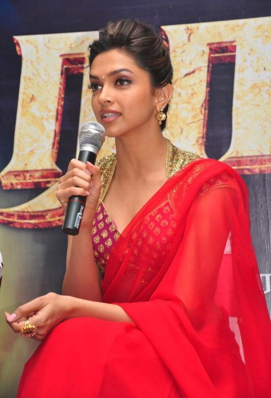 Deepika Padukone in Red Transparent Saree.jpg