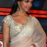 Deepika Padukone in Transparent Saree Photos – Hot Navel Pics in Red Black White Orange Green Sarees