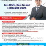Growth with Happiness – Seminar to Growth of Less Efforts / More Fun / Exponential at Rajkot on 17th June 2015