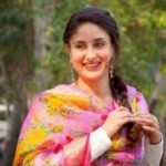 Kareena Kapoor in White Dress with Floral Pink Dupatta in Bajarangi Bhaijaan Movie 2015