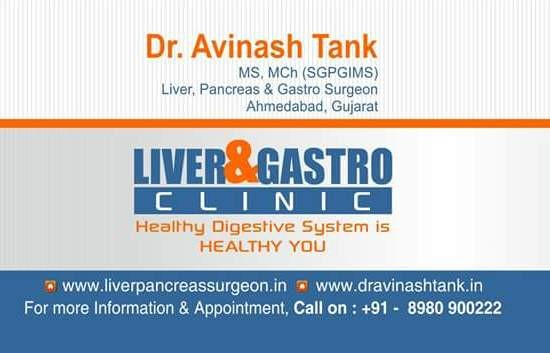 Dr. Avinash Tank's Liver & Gastro Clinic in Ahmedabad