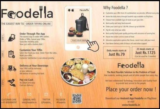 Online Tiffin Service in Ahmedabad by Foodella Order Online Tiffin