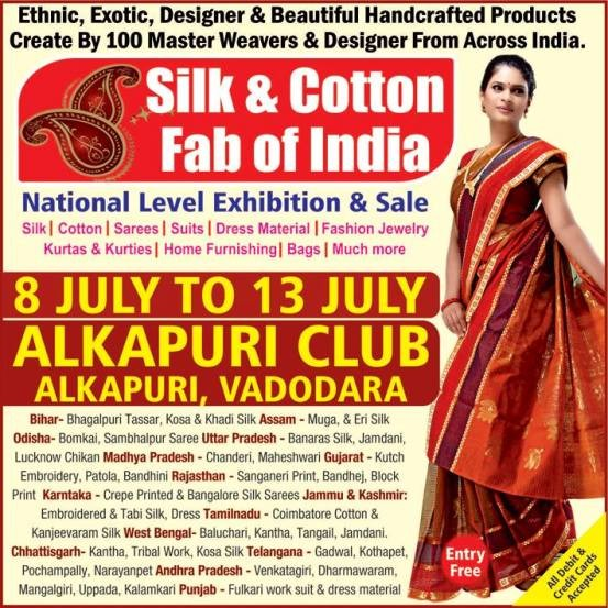 Silk & Cotton Fab of India Exhibition in Vadodara at Alkapuri Club on July 2015.jpg
