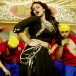 Sonakshi Sinha Hot Leg Thighs Photos in Black Ghaghara in Nachan Farrate Item Song of All Is Well