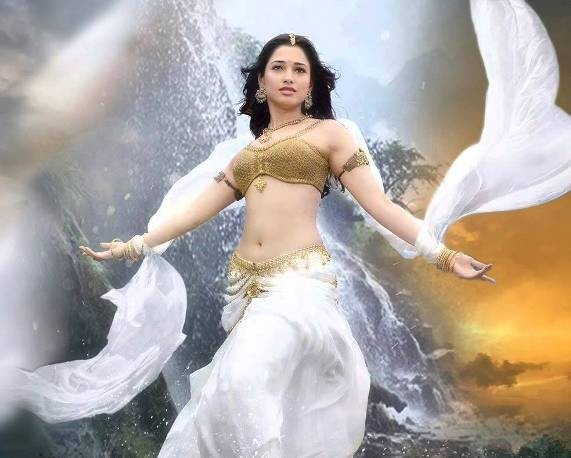 Tamanna Bhatia Hot Navel in Bahubali Movie 2015