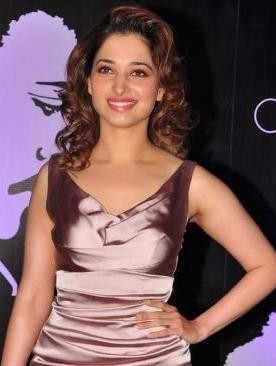 Tamanna Bhatia in Body Tight Hot Costume at Chiranjeevi's 60th Birthday Bash