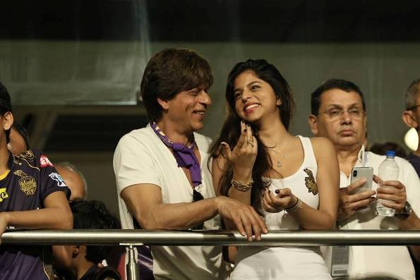 Shahrukh Khan with Daughter Suhana and Son AbRam in IPL 2018
