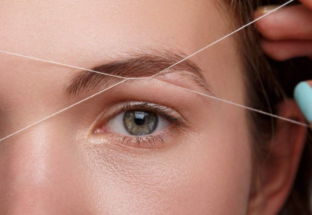 Eyebrow Threading Steps